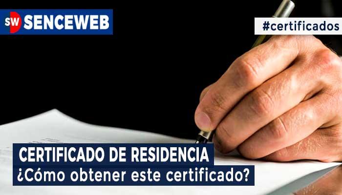 Certificado de Residencia 2021