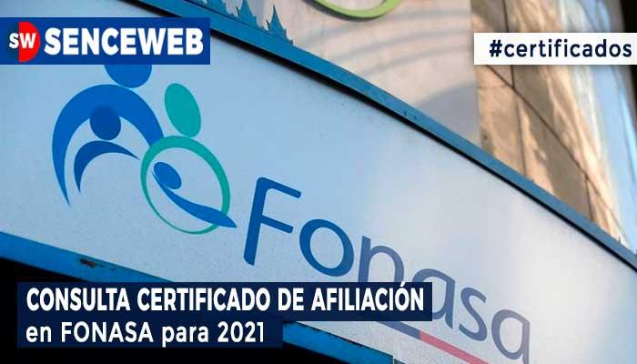 Consultar Certificado de Afiliación a Fonasa