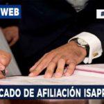 Certificado de Afiliación ISAPRES